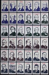 US #2216 19 1986 AMERIPEX Presidents Complete Set of 36 MINT NH Singles