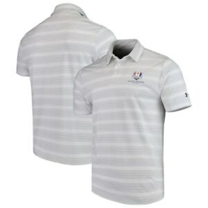 Under Armour 2018 Ryder Cup Playoff Backspin Performance Polo - WhiteGray