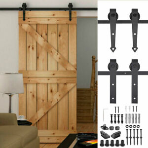 6FT 6.6FT Sliding Barn Wood Door Hardware Track Closer Set Modern Antique Style