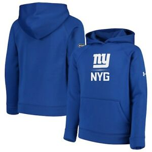 New York Giants Under Armour Youth Combine Authentic Lockup Armour Hoodie -