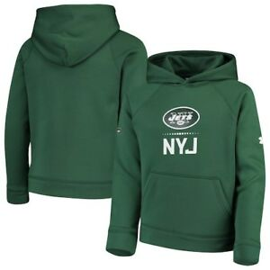 New York Jets Under Armour Youth Combine Authentic Lockup Armour Hoodie - Green