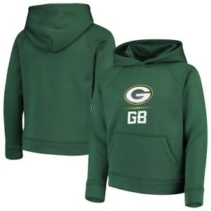 Green Bay Packers Under Armour Youth Combine Authentic Lockup Armour Hoodie -