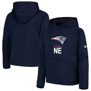 New England Patriots Under Armour Youth Combine Authentic Lockup Armour Hoodie -