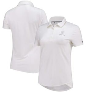 TPC River's Bend Under Armour Women's Leader Performance Polo - White