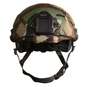OPSUR-TACTICAL COVER FOR OPS-CORE FAST HELMET IN M81 WOODLAND CAMO LXL