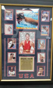 COLLECTIBLE Certified Picture Frame with Autographed Photo Michael Phelps