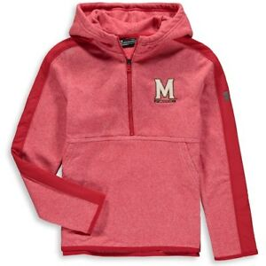 Maryland Terrapins Under Armour Youth Microfleece 14-Zip Hoodie - Red