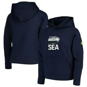 Seattle Seahawks Under Armour Youth Combine Authentic Lockup Armour Hoodie -