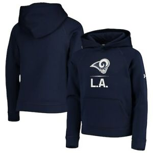 Los Angeles Rams Under Armour Youth Combine Authentic Lockup Armour Hoodie -