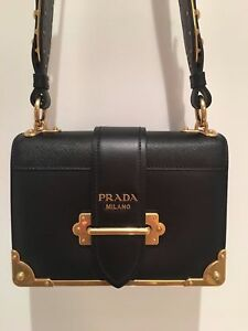 AUTHENTIC PRADA CAHIER NOTEBOOK LEATHER SHOULDER DESIGNER BAG