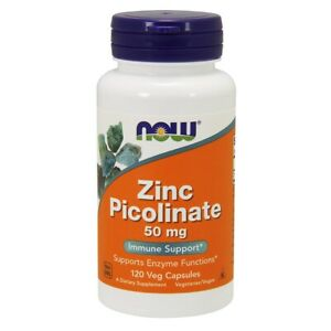 NOW Foods Zinc Picolinate 120 Veg Capsules FREE SHIPPING. MADE IN USA