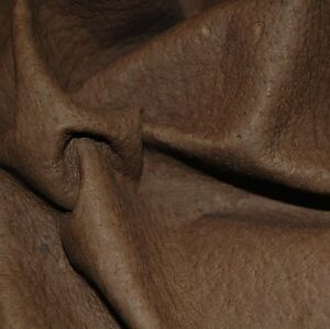 30 sf. Brown pig lining natural top grain  leather hide skin Q01A-Z