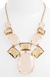 KATE SPADE HANCOCK PARK CHANDELIER DROP NECKLACE BLUSH ROSE GOLD PINK STATEMENT