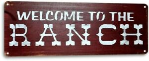 Welcome Ranch Farm Store Shop Barn Cottage Rustic Metal Decor