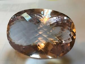 Natural Morganite Gemstone very large piece rarely found