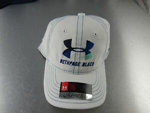 Under Armour Golf Hat Bethpage Youth White Blue Classic Fit Adjustable Teen
