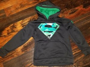 BOYS UNDER ARMOUR SUPERMAN HOODIE SIZE LOOSE YXS