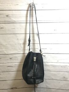 Vintage HCL Drawstring Bucket Bag Purse  Handcrafted LeatherGoods Germany Rare