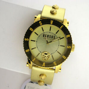 Versus by Versace S31050016 Madison Stainless Steel Bracelet Leather Watch