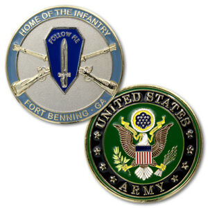 NEW  U.S. Army Home of The Infantry Fort Benning, GA Challenge Coin