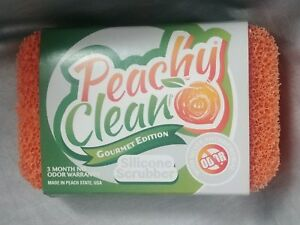 Peachy Clean Antimicrobial Silicone Dish Scrubber Sponge