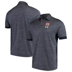Auburn Tigers Under Armour NCAA Playoff Vented Polo - Navy