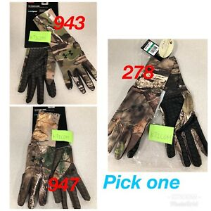 NWT Under Armour Men's Hunting Glove UA ColdGear Camo Liner 1203060 M L XL