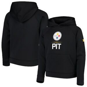 Pittsburgh Steelers Under Armour Youth Combine Authentic Lockup Armour Hoodie -