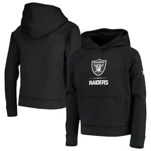 Oakland Raiders Under Armour Youth Combine Authentic Lockup Armour Hoodie -