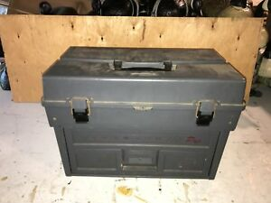 Vintage Plano Phantom III Pro Tackle Boxwith Lures and accessories