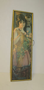 Antique Yard Long Print – Beauty Gained is Love Retained Victorian Engaged Cou $235.00