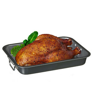 Non Stick Roasting Dish Cooking Pan Betty Crocker Oven Chicken Handles Large