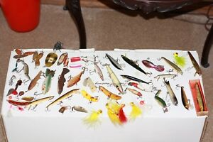 Vintage Metal Tackle Box Loaded With Old Lures