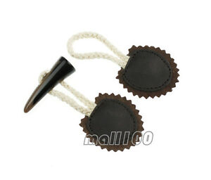 2 Set Brown Horn Sewing Buttons Coat Sweater Hooks and Eyes Clasps Sewing Hooks $2.99