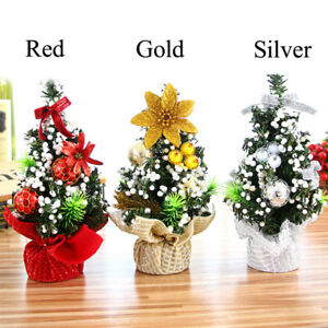 20cm Mini Christmas Tree Flower Table Decor Festival Party Ornaments Xmas Gift R
