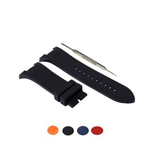 31mm Silicone Rubber Watch Strap Band Fits For Armani Exchange AX Series W/ Tool