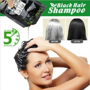 5 Minutes Hair Colouring Shampoo Black Color White Become Black Fast Dye Crayons