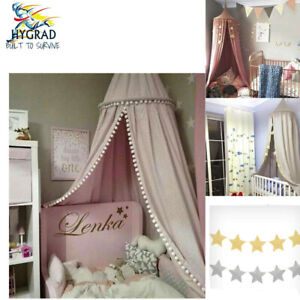 Kids Baby Bed Canopy Bedcover Mosquito Net Curtain Bedding Dome Tent Cotton GBP 19.99
