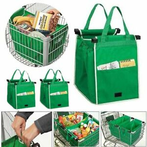 Large Grocery Shopping Bag Foldable Tote Eco friendly Reusable Supermarket Bags