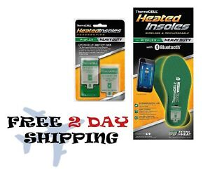 Thermacell PROFLEX Heavy Duty Heated Insoles Bluetooth + Extra Battery X-Large