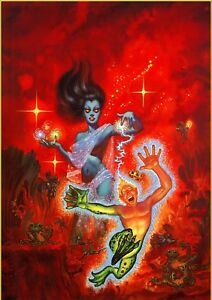 KELLY FREAS PAINTING FROG PRINCE WEIRD TALES SUMMER 1990