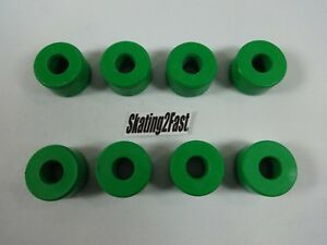 Sure Grip Replacement Double Action Green Cushions Set of 8 Quads Roller Skates