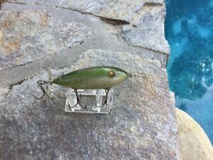 South Bend SURF ORENO Wood Glass Eye Lure In GREENSCALE!!!