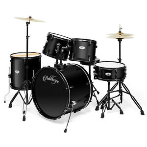 5 Piece Complete Full Size Pro Adult Drum Set Kit with Genuine Remo Heads $336.49