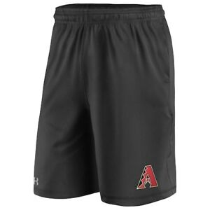 Arizona Diamondbacks Under Armour Raid Left Leg Performance Shorts - Black