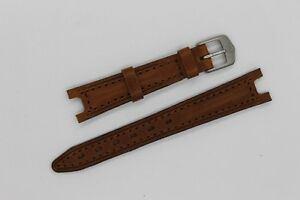 NEW Tag Heuer SEL 14mm Brown Leather Women Watch Strap Band Bracelet Silver SEL