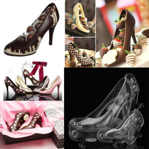 3D High Heel Shoe Shape Clear Chocolate Candy Mould Mold Cake DIY Decoration F3