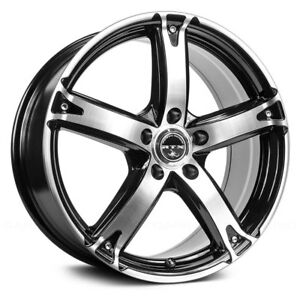 RTX NEUROTOXIN Wheels 16x7 (42 4x100 73.1) Black Rims Set of 4