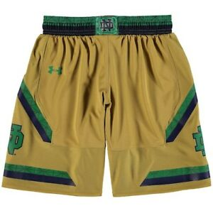 Notre Dame Fighting Irish Under Armour Youth Replica Basketball Shorts - Gold