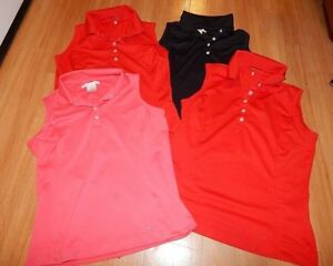 Lot of 4 Nike Fit Dry Women's Sleeveless Polo Golf Shirt size 8-10
